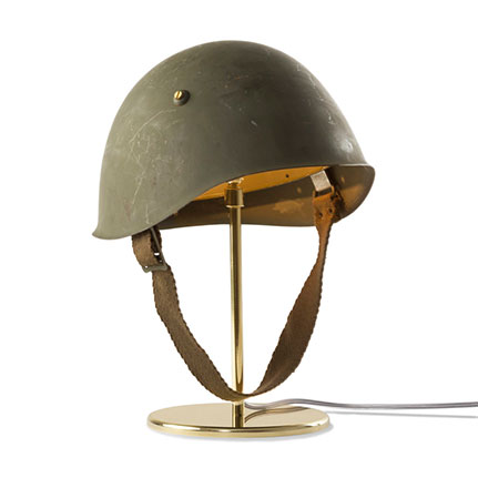 materiali recupero lampada cappello